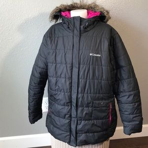 Columbia Black Puffer Coat 2X